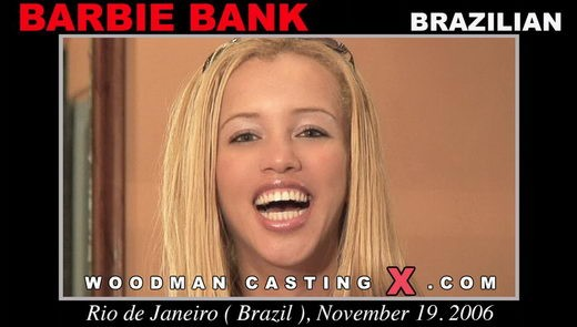Barbie Bank - `Barbie Bank casting` - by Pierre Woodman for WOODMANCASTINGX