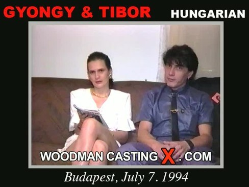 Gyongy and Tibor - `Gyongy and Tibor casting` - by Pierre Woodman for WOODMANCASTINGX