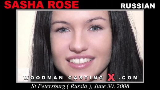 Sasha Rose - `Sasha Rose casting` - by Pierre Woodman for WOODMANCASTINGX