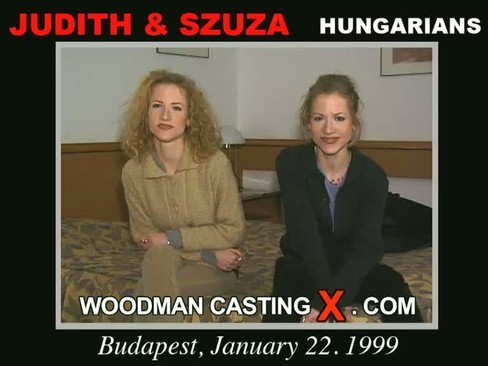 Judith and Szuza - `Judith and Szuza casting` - by Pierre Woodman for WOODMANCASTINGX