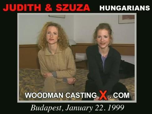 Judith and Szuza - `Judith and Szuza casting` - by Pierre Woodman for WOODMANCASTINGX