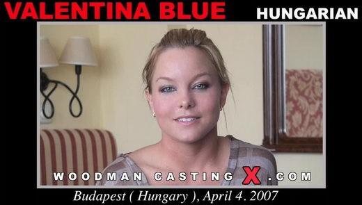 Valentina Blue - `Valentina Blue casting` - by Pierre Woodman for WOODMANCASTINGX