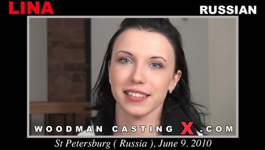 Lina - `Lina casting` - by Pierre Woodman for WOODMANCASTINGX