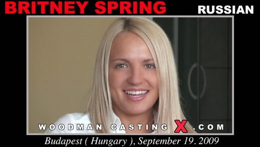 Britney Spring - `Britney Spring casting` - by Pierre Woodman for WOODMANCASTINGX