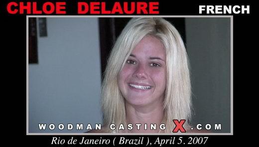 Chloe Delaure - `Chloe Delaure casting` - by Pierre Woodman for WOODMANCASTINGX