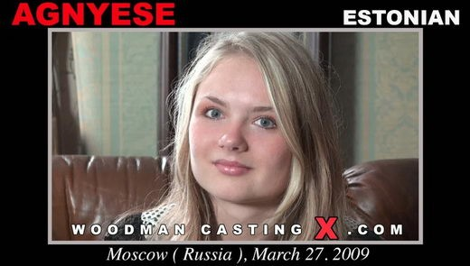 Agnyese - `Agnyese casting` - by Pierre Woodman for WOODMANCASTINGX