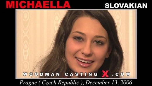 Michaella - `Michaella casting` - by Pierre Woodman for WOODMANCASTINGX