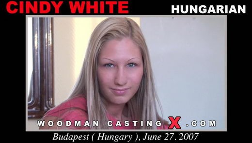 Cindy White - `Cindy White casting` - by Pierre Woodman for WOODMANCASTINGX