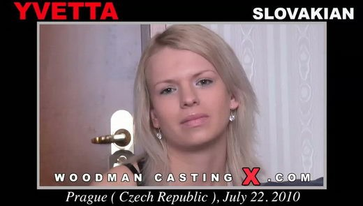 Yvetta - `Yvetta casting` - by Pierre Woodman for WOODMANCASTINGX