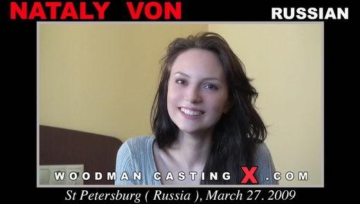 Nataly Von - `Nataly Von casting` - by Pierre Woodman for WOODMANCASTINGX