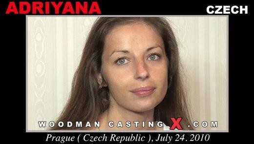Adriyana - `Adriyana casting` - by Pierre Woodman for WOODMANCASTINGX