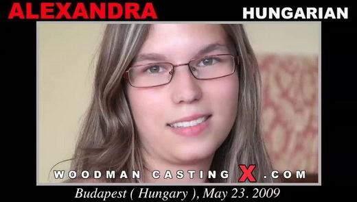 Alexandra - `Alexandra casting` - by Pierre Woodman for WOODMANCASTINGX