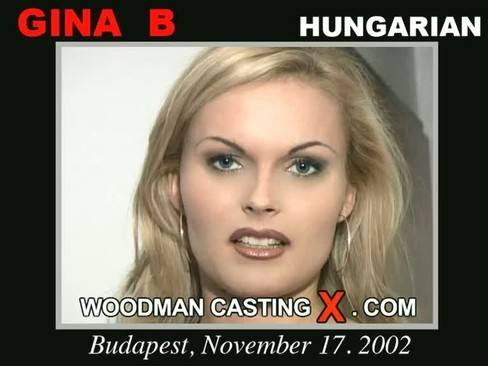 Gina B - `Gina B casting` - by Pierre Woodman for WOODMANCASTINGX