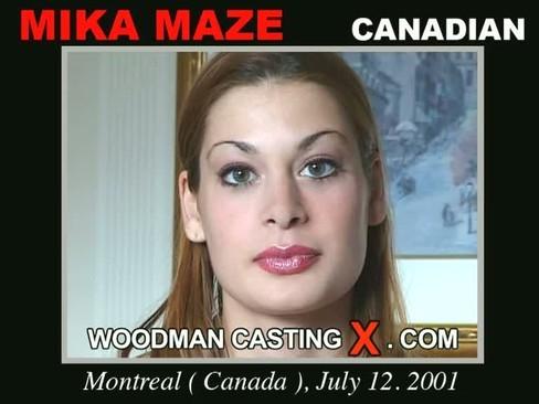 Mika Maze - `Mika Maze casting` - by Pierre Woodman for WOODMANCASTINGX