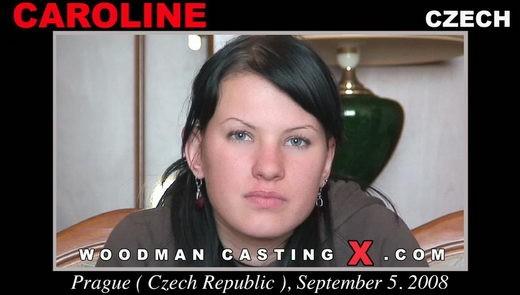 Caroline casting video from WOODMANCASTINGX by Pierre Woodman