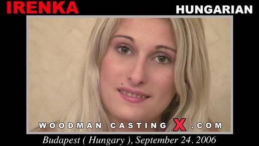 Irenka - `Irenka casting` - by Pierre Woodman for WOODMANCASTINGX