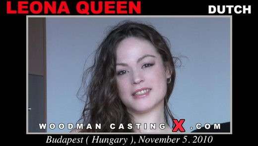 Leona Queen - `Leona Queen casting` - by Pierre Woodman for WOODMANCASTINGX