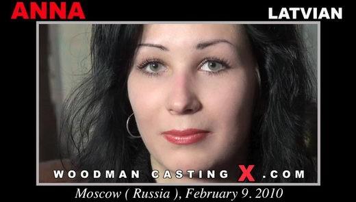 Anna - `Anna casting` - by Pierre Woodman for WOODMANCASTINGX