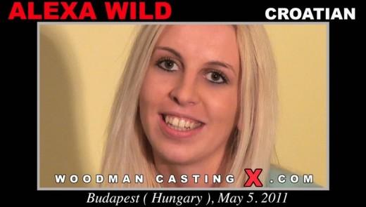 Alexa Wild - `Alexa Wild casting` - by Pierre Woodman for WOODMANCASTINGX