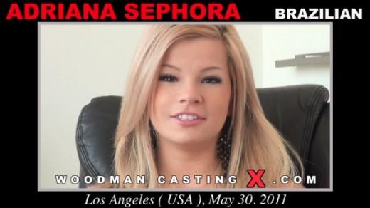 Adriana Sephora - `Adriana Sephora casting` - by Pierre Woodman for WOODMANCASTINGX