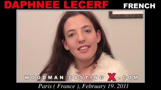 Daphnee Lecerf, Clanddi - `Daphnee Lecerf casting` - by Pierre Woodman for WOODMANCASTINGX