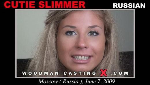 Cutie Slimmer, Dulsineya - `Cutie Slimmer casting` - by Pierre Woodman for WOODMANCASTINGX