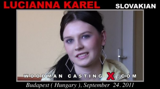 Lucianna Karel - `Lucianna Karel casting` - by Pierre Woodman for WOODMANCASTINGX