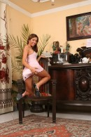 Britany in Chair 1 gallery from THELIFEEROTIC by Richard Menzi - #5