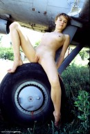 Olga in Plane gallery from ERROTICA-ARCHIVES by Erro - #11