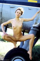 Olga in Plane gallery from ERROTICA-ARCHIVES by Erro - #2