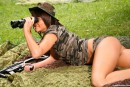 Debbie E in Military teen masturbates her pussy outdoors gallery from CLUBSEVENTEEN - #13