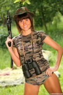 Debbie E in Military teen masturbates her pussy outdoors gallery from CLUBSEVENTEEN - #14