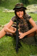 Debbie E in Military teen masturbates her pussy outdoors gallery from CLUBSEVENTEEN - #15