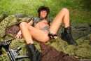 Debbie E in Military teen masturbates her pussy outdoors gallery from CLUBSEVENTEEN - #6