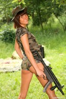 Debbie E in Military teen masturbates her pussy outdoors gallery from CLUBSEVENTEEN - #7