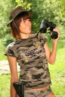 Debbie E in Military teen masturbates her pussy outdoors gallery from CLUBSEVENTEEN - #8