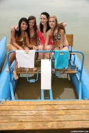 Simone K & Anouk I & Tamara F & Nikki I in Four girls, two water bikes video from CLUBSEVENTEEN - #1