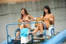 Simone K & Anouk I & Tamara F & Nikki I in Four girls, two water bikes video from CLUBSEVENTEEN - #10
