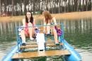 Simone K & Anouk I & Tamara F & Nikki I in Four girls, two water bikes video from CLUBSEVENTEEN - #13
