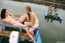 Simone K & Anouk I & Tamara F & Nikki I in Four girls, two water bikes video from CLUBSEVENTEEN - #14