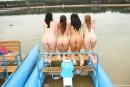 Simone K & Anouk I & Tamara F & Nikki I in Four girls, two water bikes video from CLUBSEVENTEEN - #3