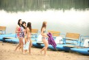 Simone K & Anouk I & Tamara F & Nikki I in Four girls, two water bikes video from CLUBSEVENTEEN - #6