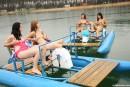 Simone K & Anouk I & Tamara F & Nikki I in Four girls, two water bikes video from CLUBSEVENTEEN - #9