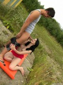 Simone K in A hot outdoor game video from CLUBSEVENTEEN - #3