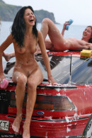 Evia & Irina F & Kata A & Milli in Car Wash gallery from FEMJOY by Max Stan - #12