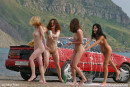 Evia & Irina F & Kata A & Milli in Car Wash gallery from FEMJOY by Max Stan - #7