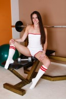 Bailey Bam in Sporty Teen Sucks Off Her Personal Trainer gallery from CLUBSEVENTEEN - #3