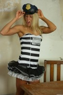 Christen in Sexy Police Officer Masturbating gallery from CLUBSEVENTEEN - #12