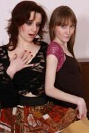 Lizaveta K & Vasilisa in hairy lesbians gallery from ATKPETITES - #8