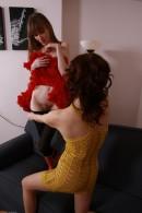 Lizaveta K & Vasilisa in hairy lesbians gallery from ATKPETITES - #1